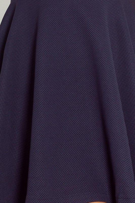 66-1 Gruba Lacosta - Ekskluzywna sukienka z dłuższym tyłem - Granatowa