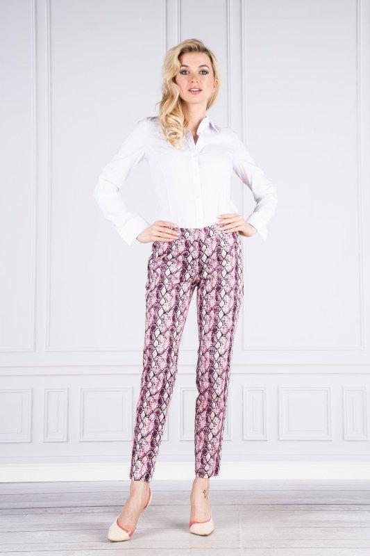 Spodnie damskie ze zwężanymi nogawkami