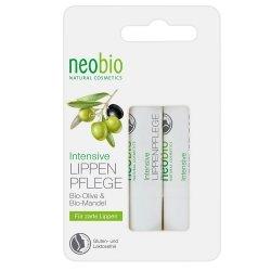 Neobio  Balsam pielęgnacyjny do ust z bio aloesem i woskiem Carnauba 2 szt.