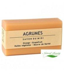SAVON DU MIDI Prowansalskie mydło z masłem karité AGRUMES / pomarańcza + grapefruit