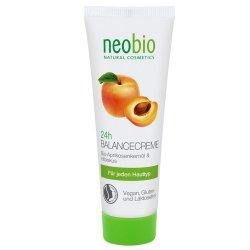 Neobio 24 h krem przywracający równowagę z bio-olejem z pestek moreli i hibiskusem