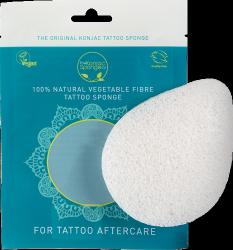 Gąbka Konjac Tattoo do mycia i pielęgnacji skóry pokrytej tatuażem