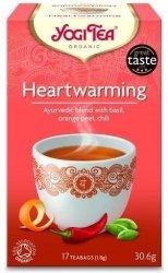 YOGI TEA® Herbata RADOŚĆ ŻYCIA z bazylią, skórką pomarańczową i chili (Heartwarming)