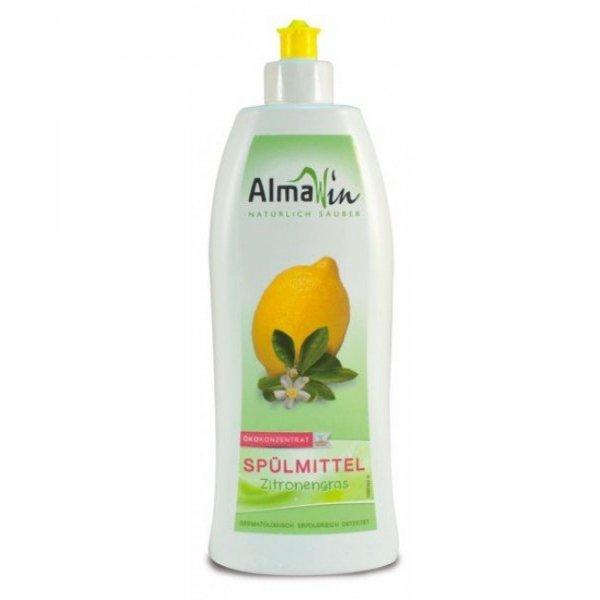 AlmaWin Skoncentrowany płyn  mycia naczyń  z trawą cytrynową 500ml.