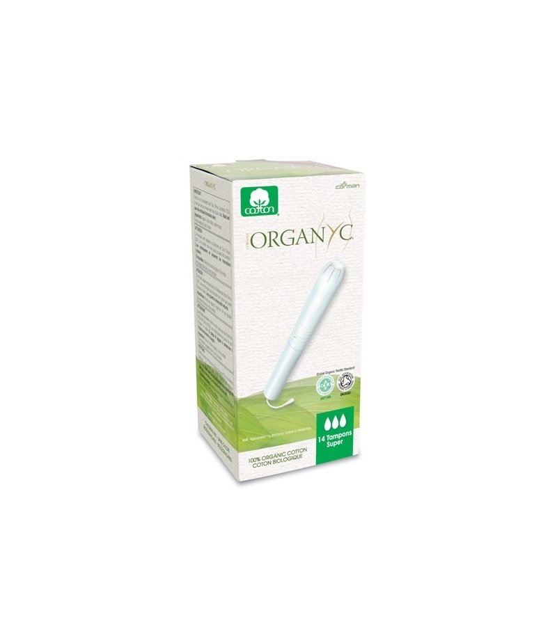 Organyc Ekologiczne tampony Super z aplikatorem z bio bawełny 14 szt