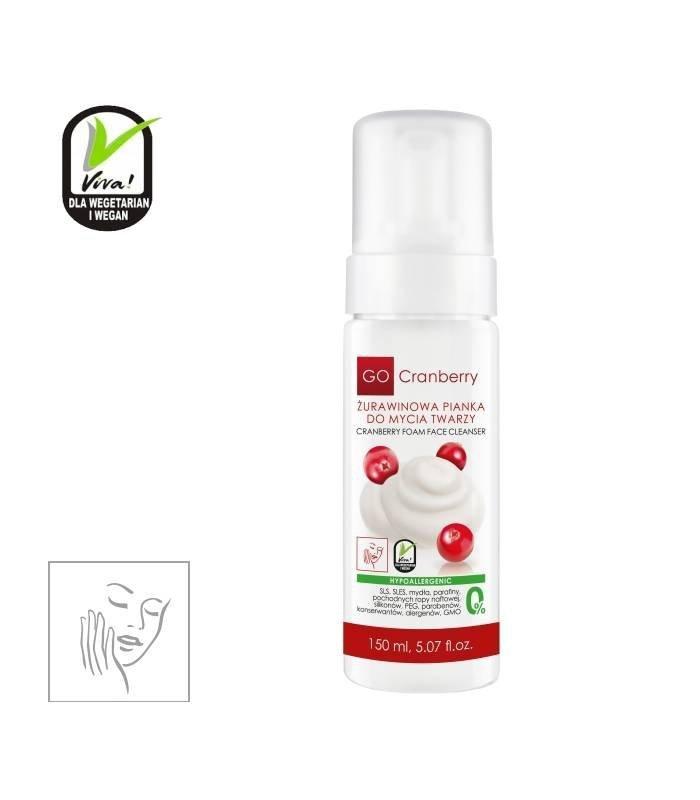 NOVA KOSMETYKI Żurawinowa Pianka do mycia twarzy GoCranberry 150 ml