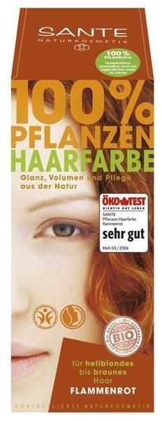 Sante Naturkosmetik Roślinna farba do włosów w proszku FLAMMENROT / miedź