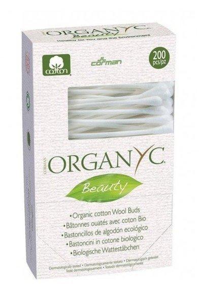 Organyc Patyczki kosmetyczne z bio-bawełny 200 szt.