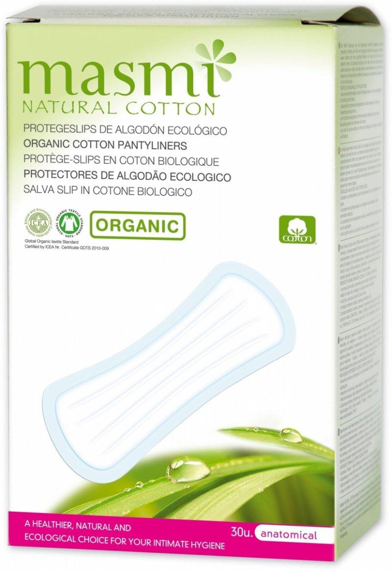 Masmi Wkładki higieniczne o anatomicznym kształcie -100% bawełny organicznej