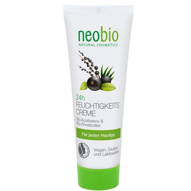 Neobio Krem nawilżający 24h z bio-açai i bio-masłem shea