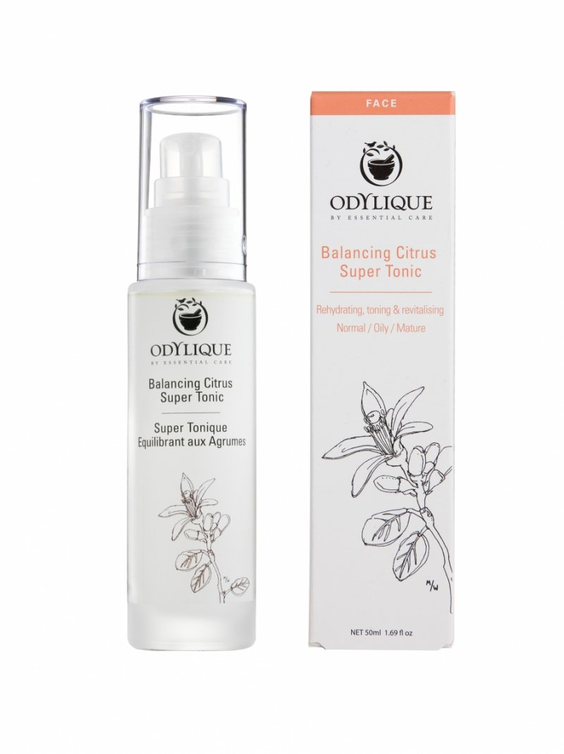 Odylique by Essential Care organiczny cytrusowy Super Tonik równoważąco-nawilżający, 50 ml