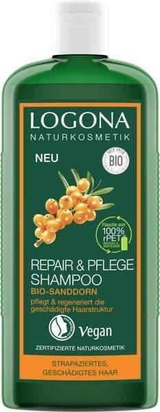 Logona Szampon regenerujący z bio-rokitnikiem do włosów zniszczonych