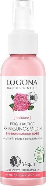 Logona Mleczko do mycia twarzy z bio-różą 125 ml