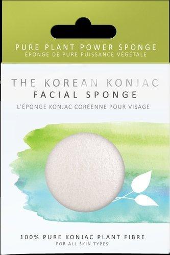 Konjac Sponge Company Gąbka Konjac do mycia twarzy i ciała biała uniwersalna 100% czysty Konjac