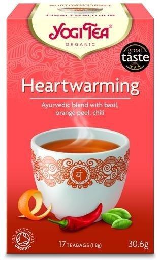 YOGI TEA Herbata RADOŚĆ ŻYCIA z bazylią, skórką pomarańczową i chili (Heartwarming)
