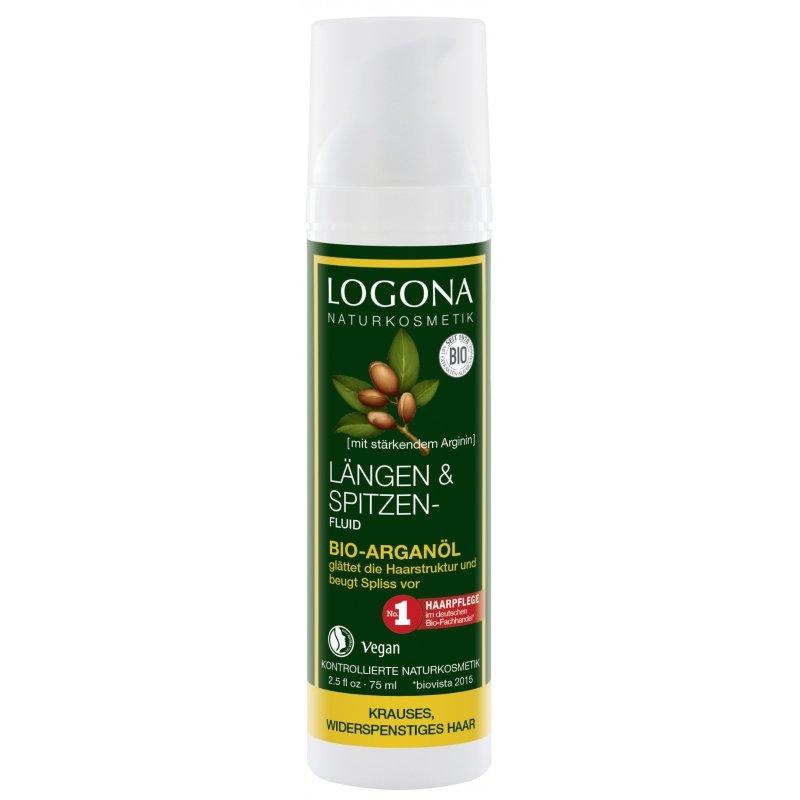 Logona Fluid z bio-olejem arganowym do pielęgnacji zniszczonych końcówek włosów