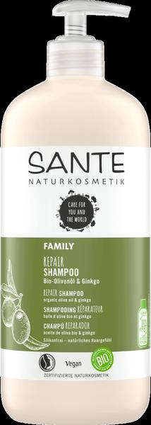 Sante Naturkosmetik FAMILY Szampon regenerujący z bio-miłorzębem i bio-oliwą 500 ml