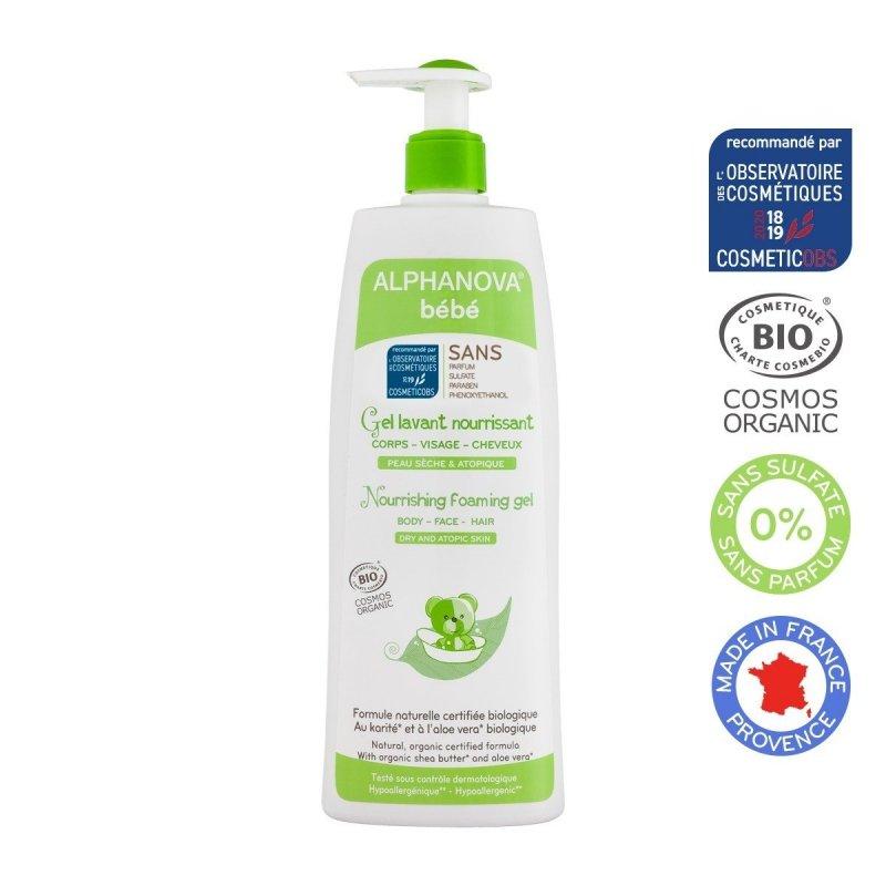 Alphanova Bebe Odżywczy zel do mycia do skóry atopowej i suchej 500 ml.
