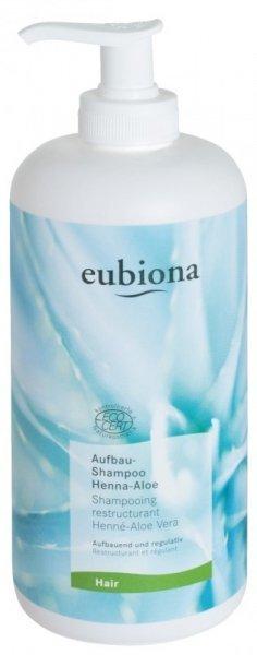 eubiona Szampon odbudowujący z henną i aloesem do włosów suchych i zniszczonych 500 ml