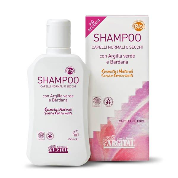 Argital Wzmacniający szampon do włosów z zieloną glinką i łopianem