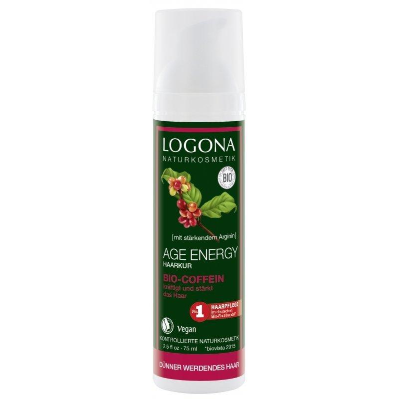 Logona AGE ENERGY Kuracja z bio-kofeiną do włosów cienkich i osłabionych