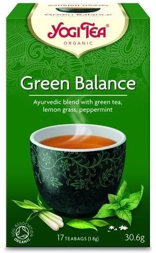 YOGI TEA Herbata zielona z trawą cytrynową i miętą ZIELONA HARMONIA (Green Balance)