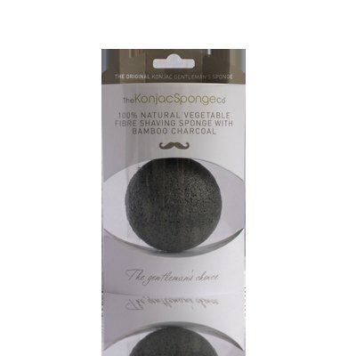 Gąbka Konjac Premium dla Mężczyzny do oczyszczania twarzy i golenia z czarnym węglem bambusowym