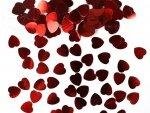 Konfetti czerwone serca, 10mm 1 op KONS5