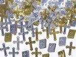 Konfetti metalizowane krzyże i księgi 15g KONS13