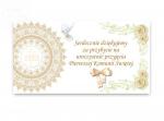 Bilecik podziękowanie komunijne IHS  (694) 1szt
