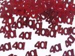 Konfetti metalizowane urodziny 40 - 15 gram