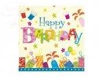 Serwetki urodzinowe 33x33cm HAPPY BIRTHDAY 20szt