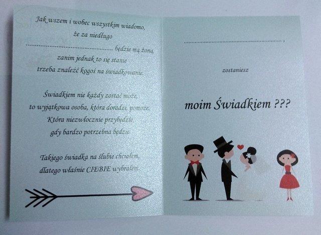 Nowoczesna architektura kieliszki ślubne Zaproszenie ślubne dla ŚWIADKA 1 szt HZ98