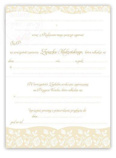 Kieliszki ślubne Zaproszenie Na ślub I Przyjęcie Weselne Zawiera