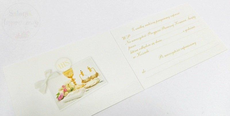 Kieliszki ślubne Zaproszenie Na I Komunię świętą Do Ręcznego