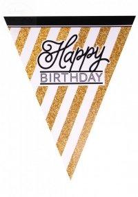 Girlanda mini flagiHappy Birthday Glitter 3,7m