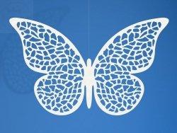 Dekoracja papierowa motyl 8 x 5.5 cm  10szt