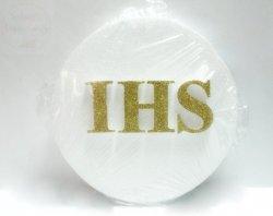 Opłatek styropianowy mały ze złotym IHS
