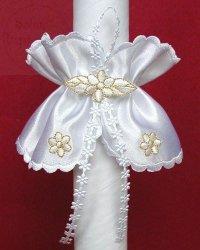 Stroik atłasowy z haft. kwiatkami zdobienie złote