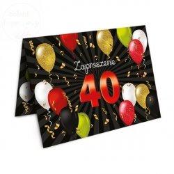 Zaproszenie na 40  urodziny  Baloniki -1szt