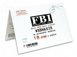 Zaproszenie, wezwanie FBI na 18-stkę 1szt