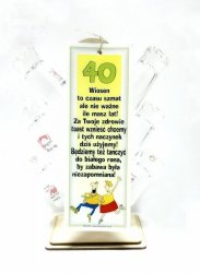 Barek kieliszki na 40 Urodziny