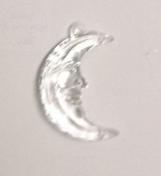 Zawieszka akrylowa księżyc  mły 1 szt