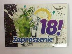 Zaproszenie  na 18 urodziny DRINK  1 szt