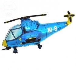Balon foliowy 24  Helikopter niebieski