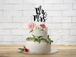 Topper na tort czarny  MR&MRS  25,5 cm