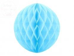 Kula bibułowa błękitna 40 cm