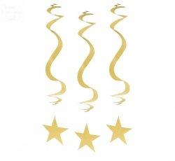 Dekoracja wisząca  Brokatowe Gwiazdki 3szt