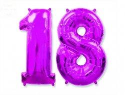 Balon foliowy różowa Cyfra 18  85 cm