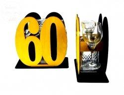 Karafka Cyfra 60 + kieliszki,prezent 60 urodziny